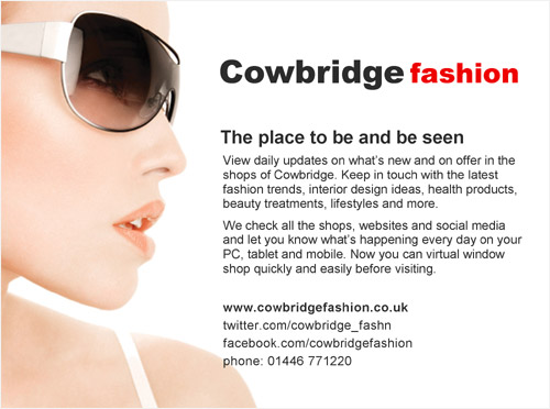 Cowbridge fashion promotional leaflet