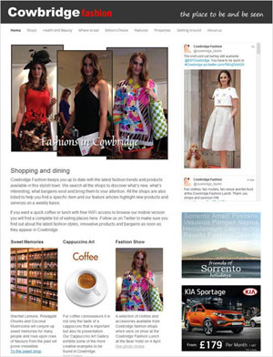 Cowbridge Fashion webpage